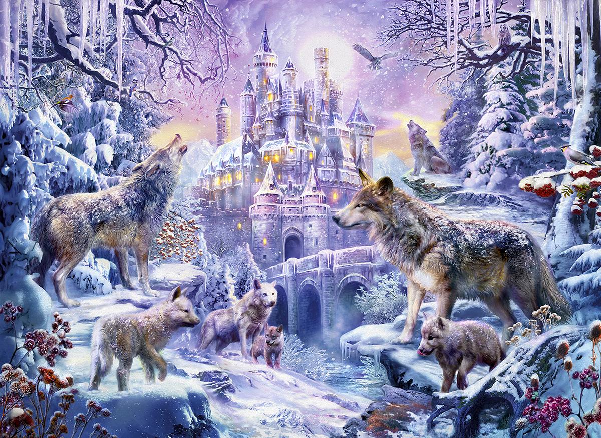 Castle Wolves Castles Jigsaw Puzzle