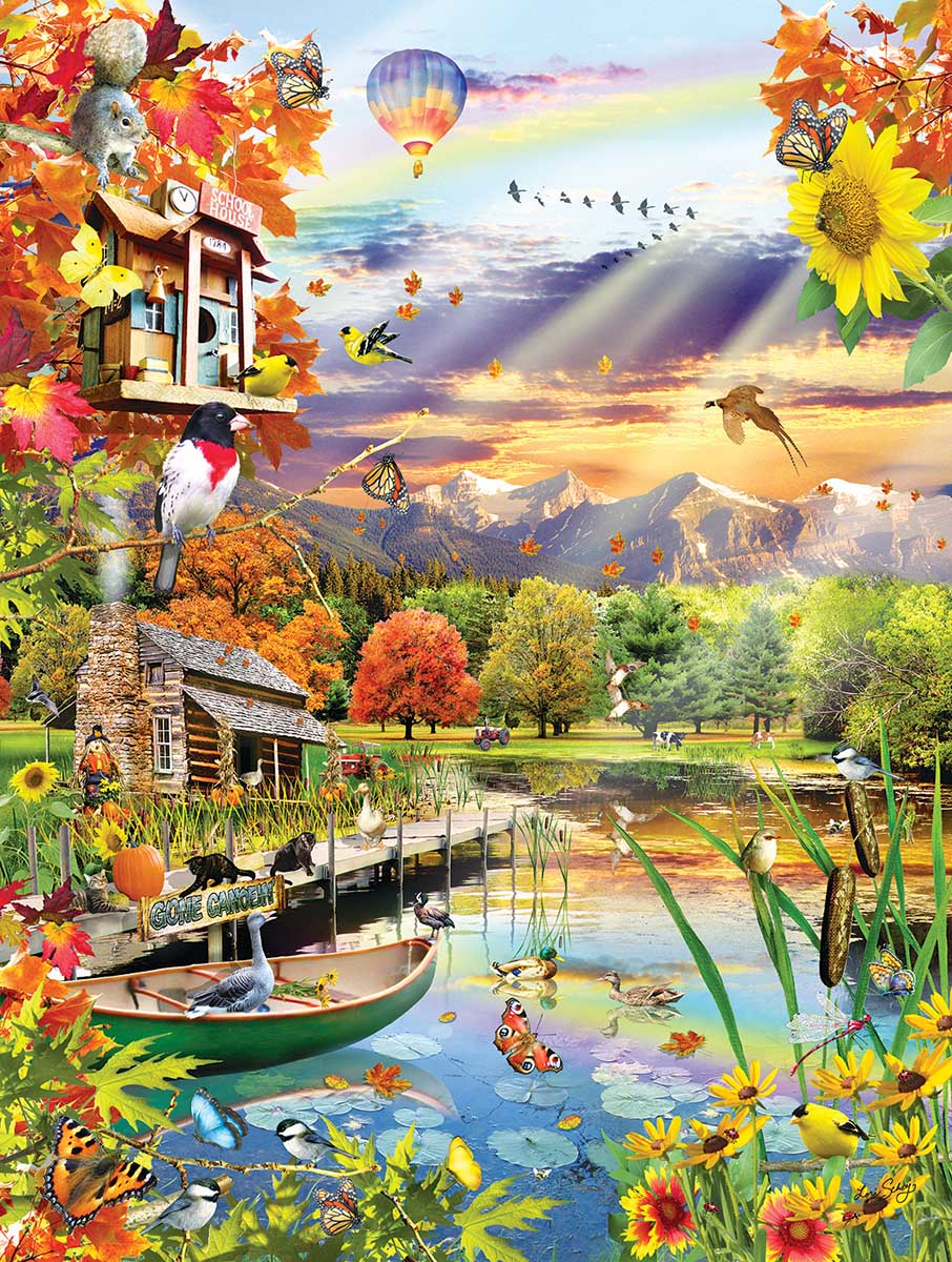 Autumn Lake Birds Jigsaw Puzzle