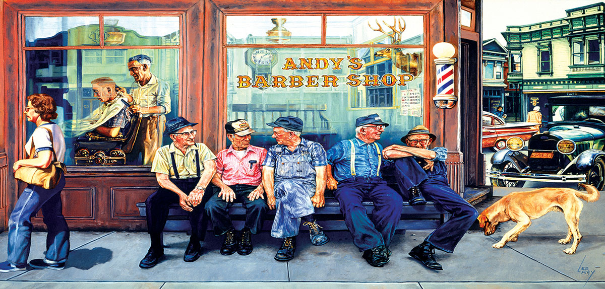 Andy's Barbershop Friends Nostalgic / Retro Jigsaw Puzzle
