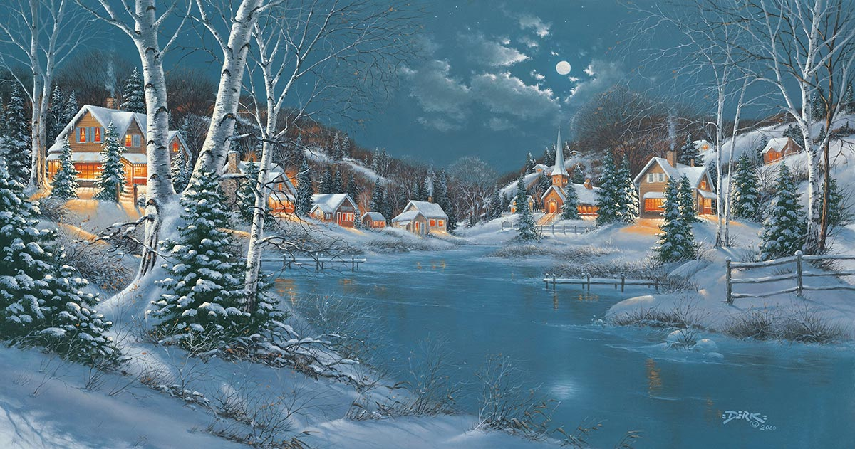 Evening in Winter Snow Jigsaw Puzzle