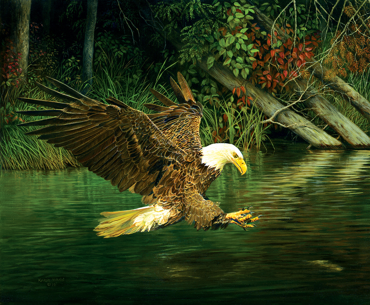 Catching Dinner Eagles Jigsaw Puzzle
