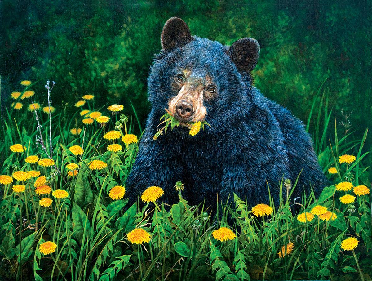 Dandelion Breakfast Wildlife Jigsaw Puzzle