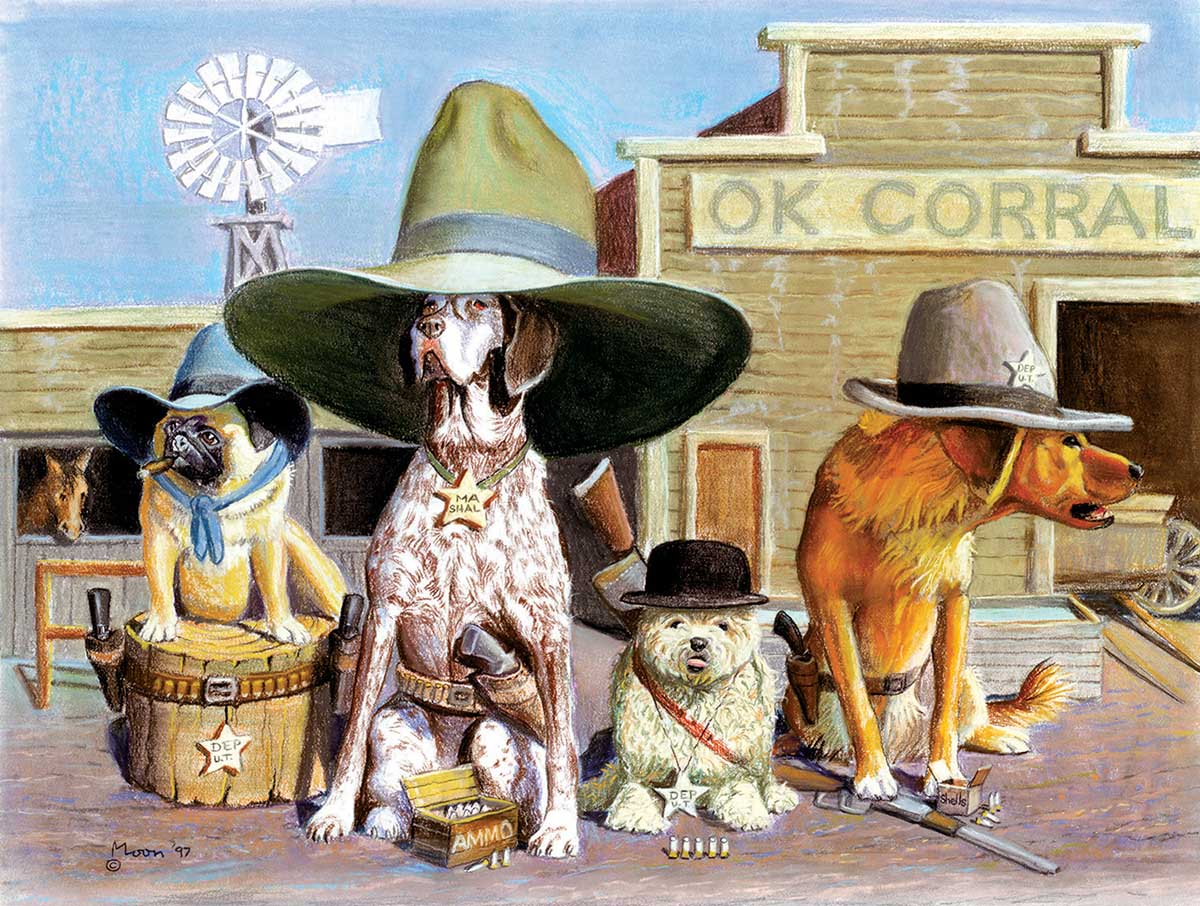 OK Corral Dogs Jigsaw Puzzle