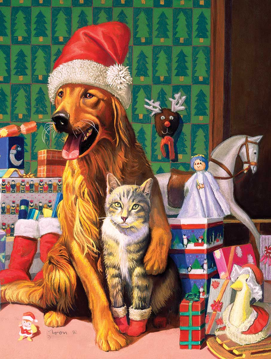 The Christmas Spirit Cats Jigsaw Puzzle