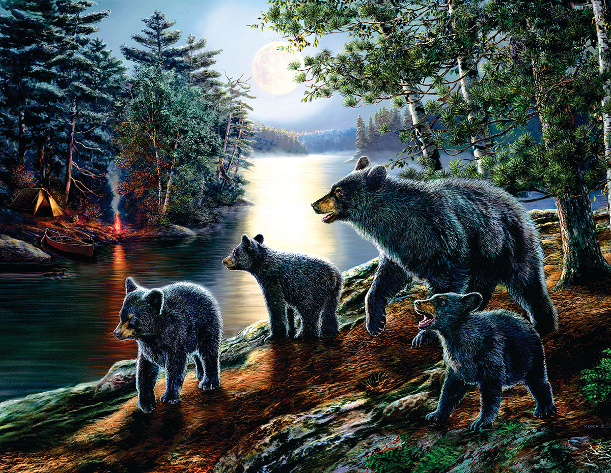 Bear Moon Bears Jigsaw Puzzle