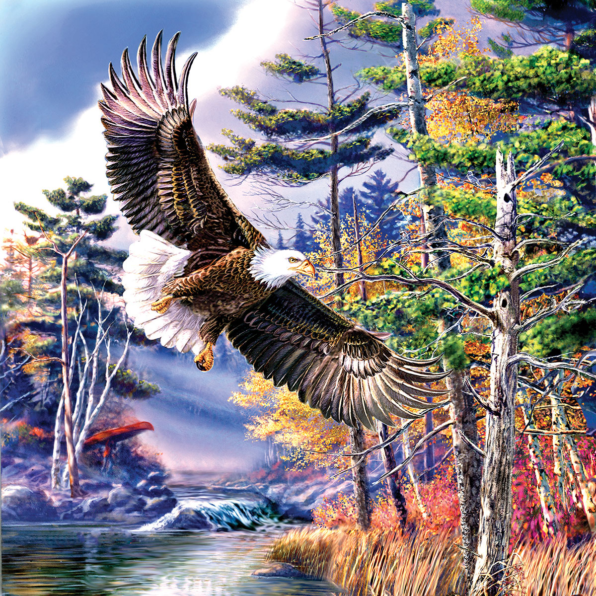 Boundary Water Eagles Jigsaw Puzzle