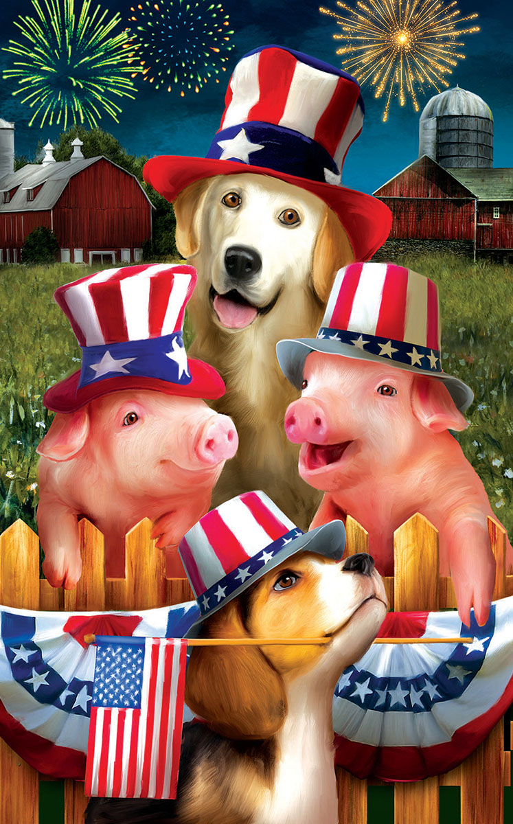 Fourth on the Farm Animals Jigsaw Puzzle