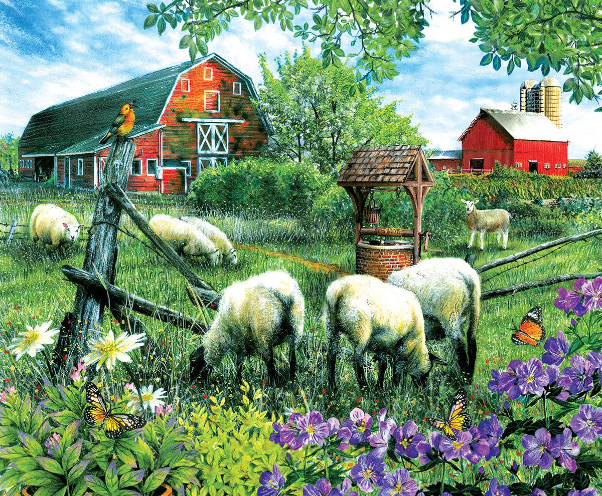 Pleasant Valley Sheep Farm Farm Jigsaw Puzzle