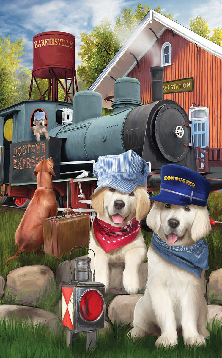 Dogtown Express - Scratch and Dent Dogs Jigsaw Puzzle