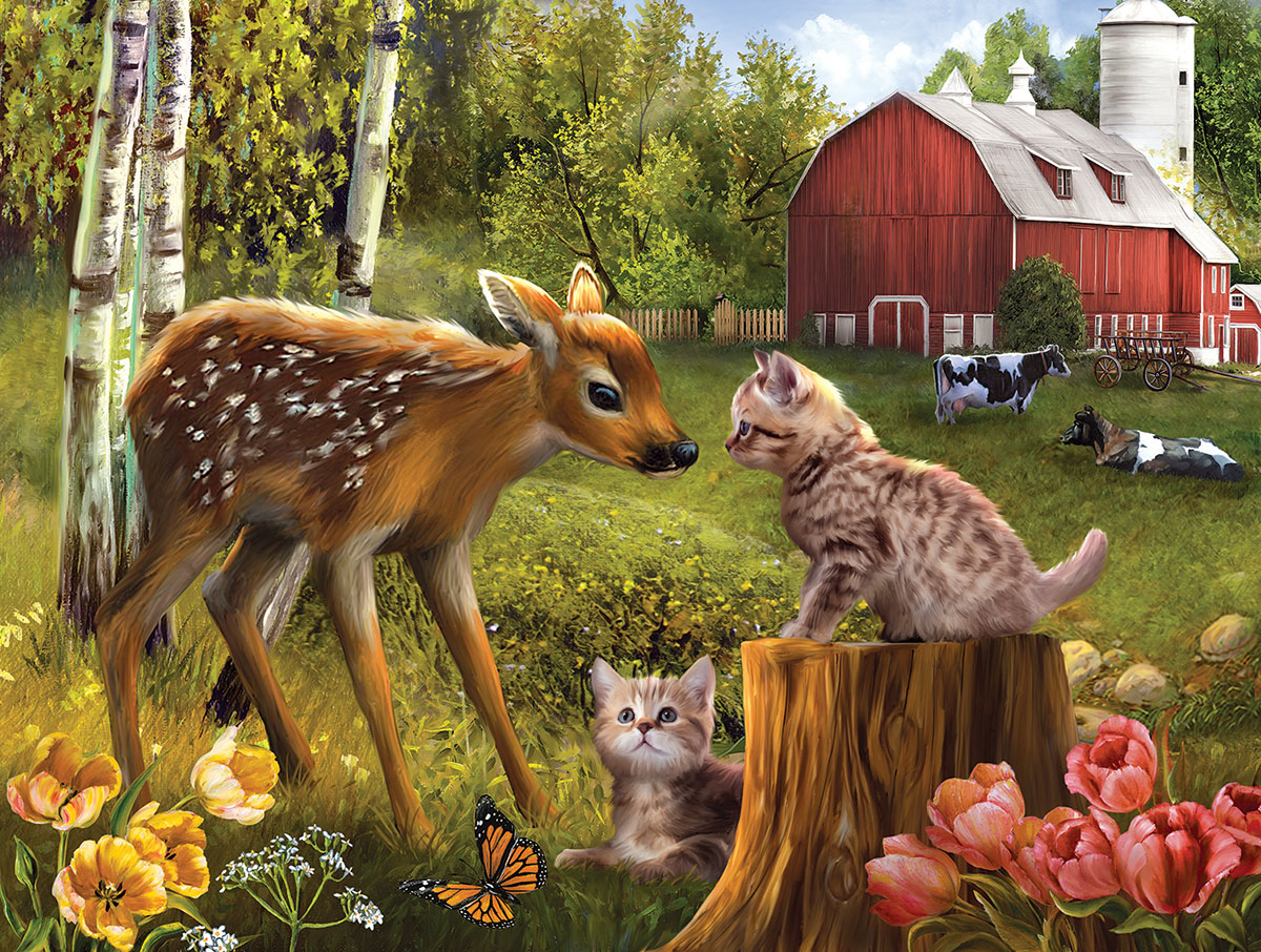 Want to be Friends Animals Jigsaw Puzzle