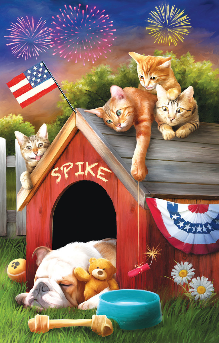 Mischief on the Fourth Cats Jigsaw Puzzle