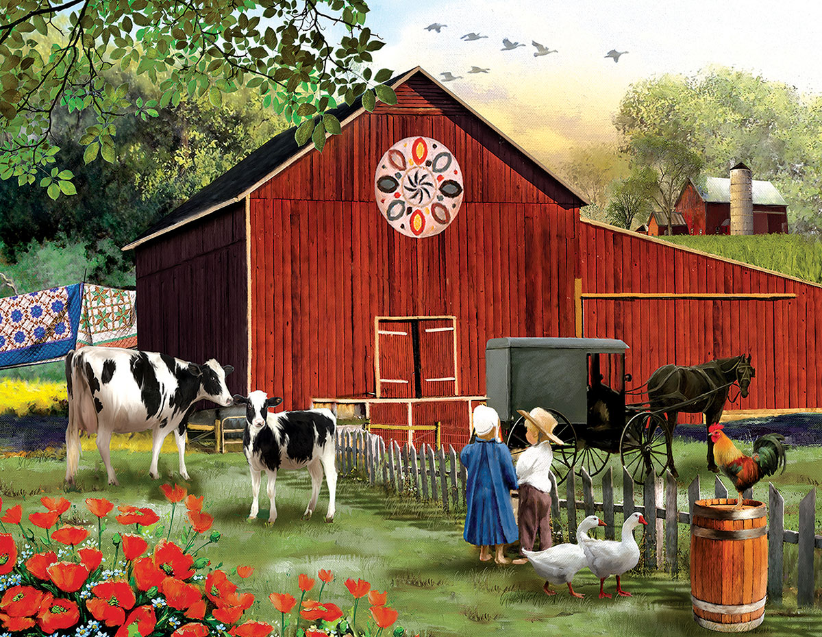 Serenity in the Country Farm Jigsaw Puzzle