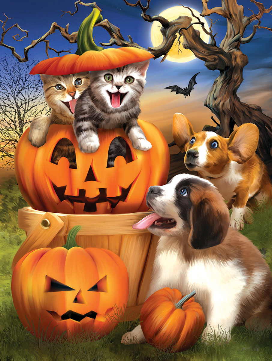 Boo Cat - Scratch and Dent Halloween Jigsaw Puzzle