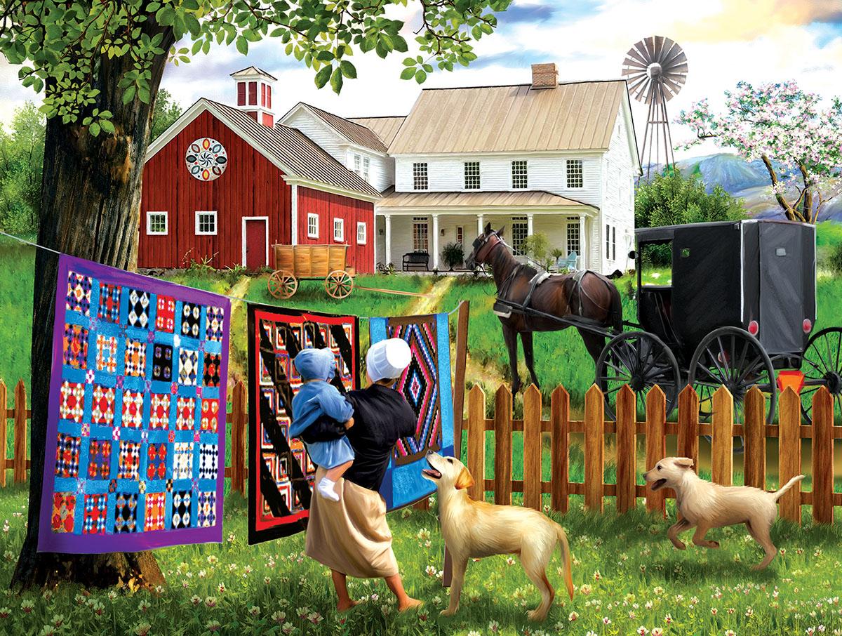 Family Homestead Farm Jigsaw Puzzle