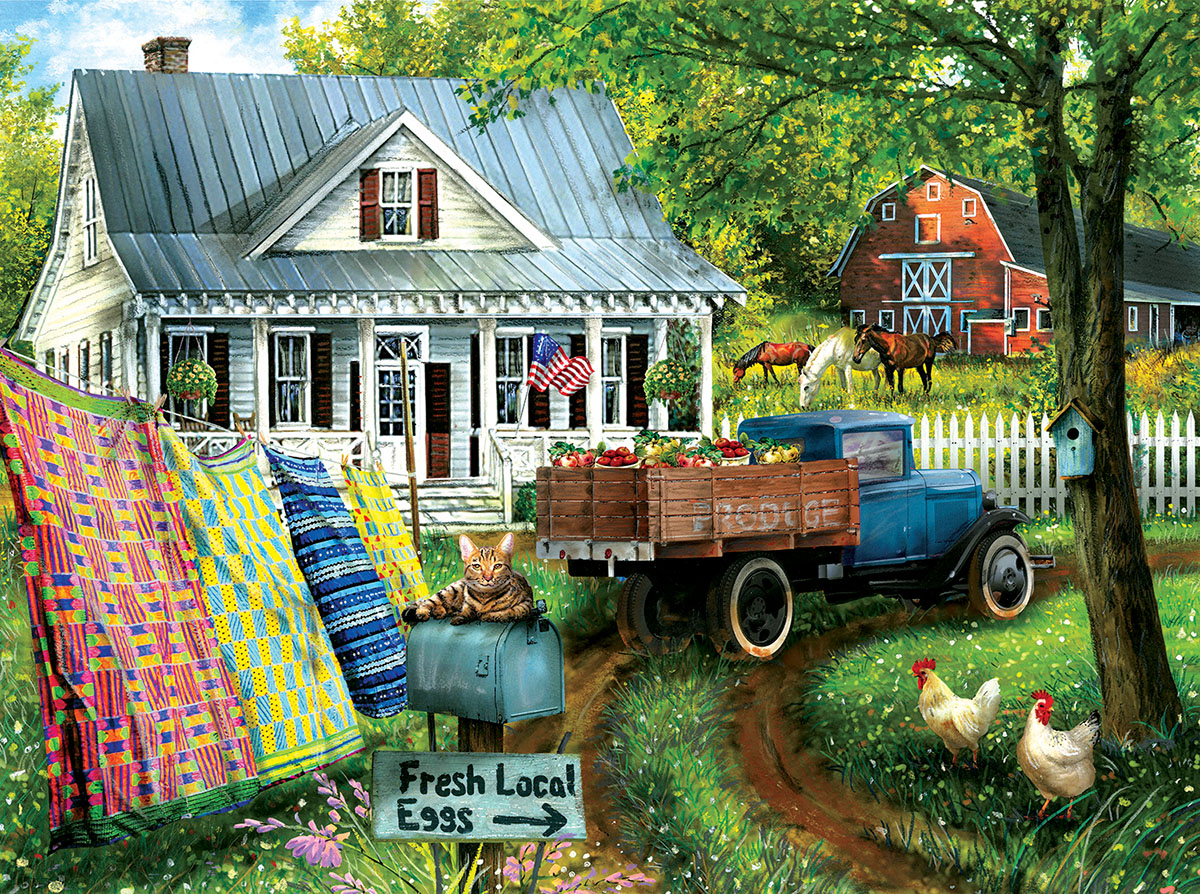 Countryside Living Farm Jigsaw Puzzle