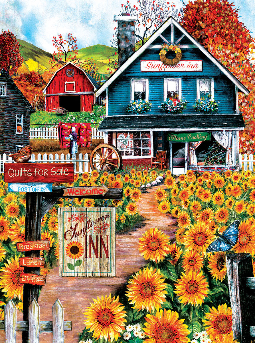 At the Sunflower Inn - Scratch and Dent Farm Jigsaw Puzzle