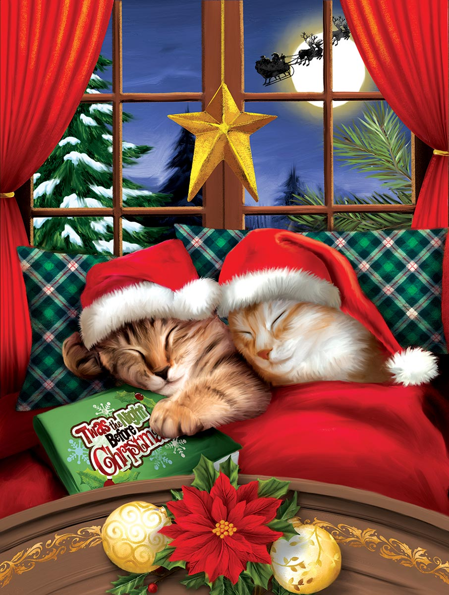 To All a Merry Christmas Cats Jigsaw Puzzle