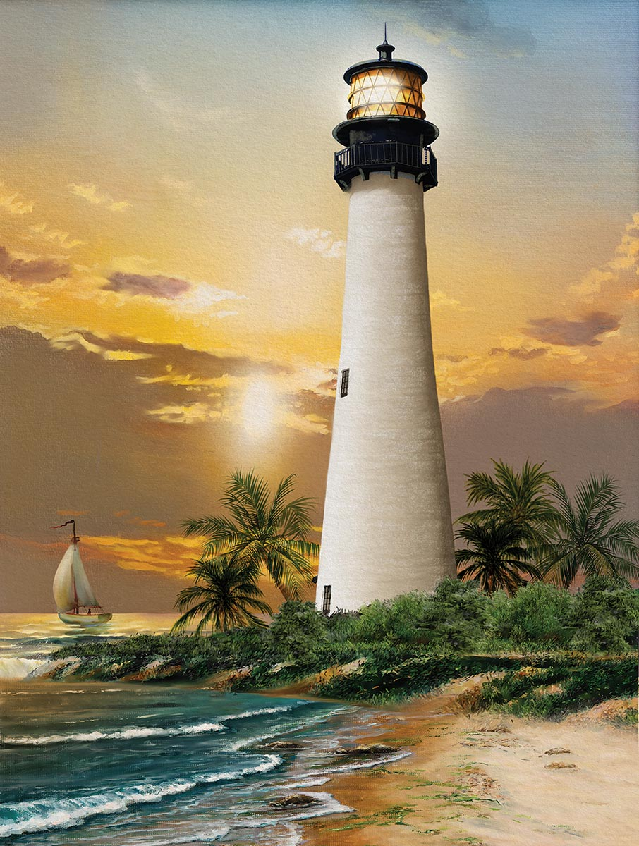 Cape Florida Lighthouse Lighthouses Jigsaw Puzzle
