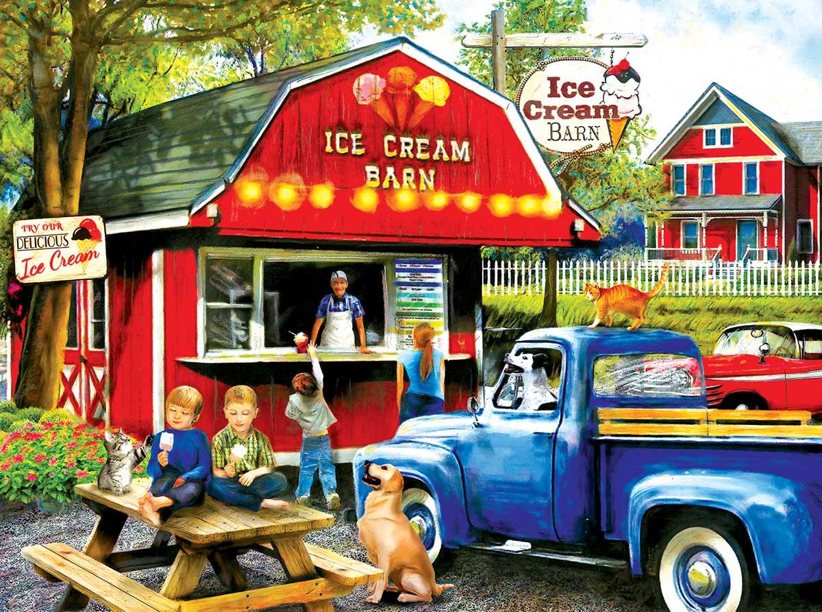The Ice Cream Barn Farm Jigsaw Puzzle