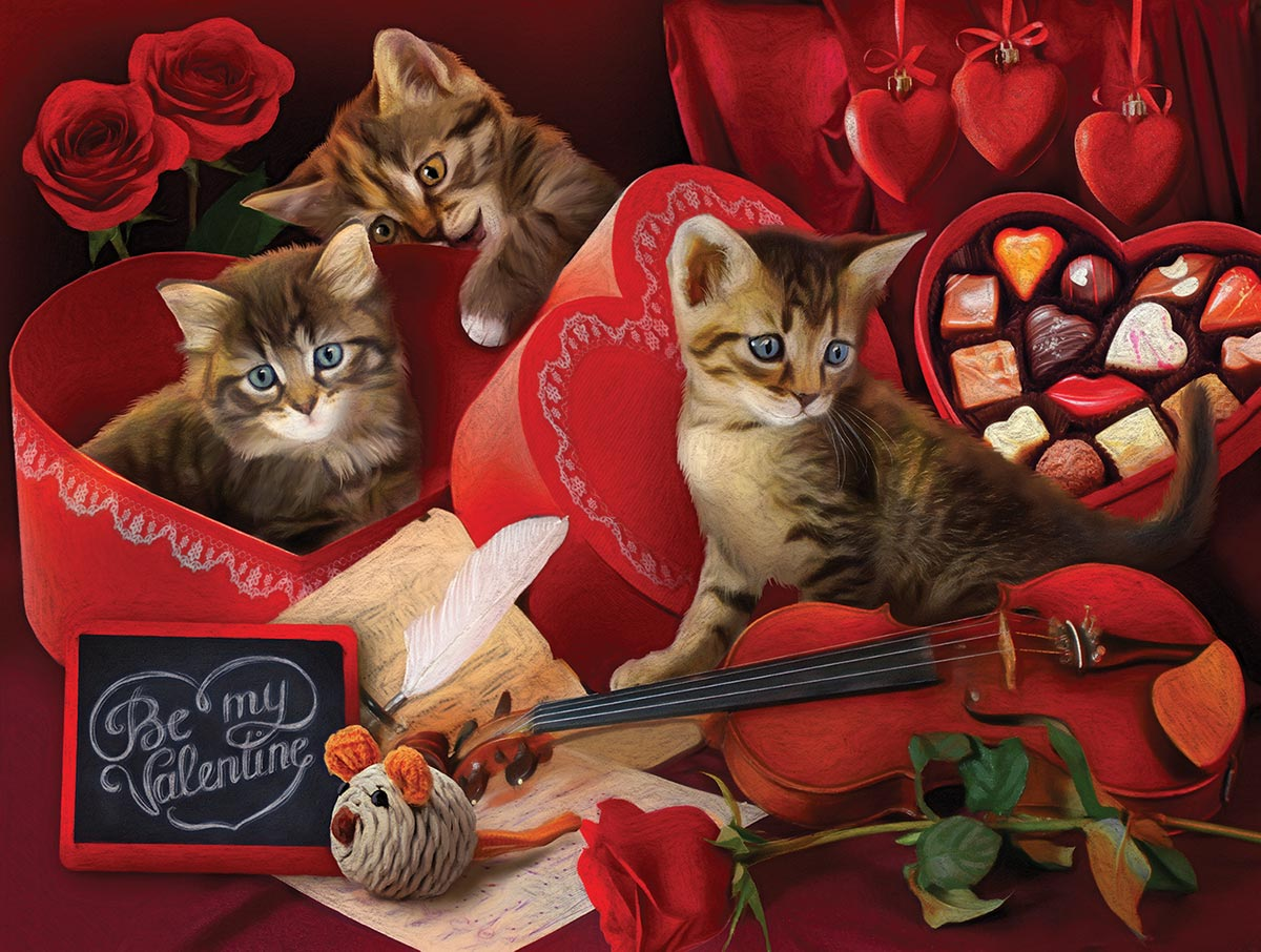 Be My Valentine Cats Jigsaw Puzzle