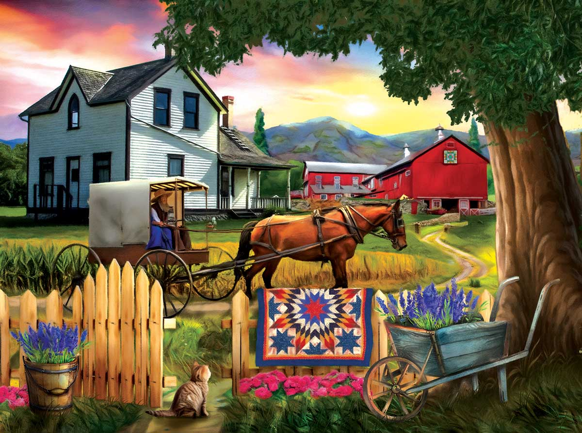 Heading Home for Dinner Farm Jigsaw Puzzle