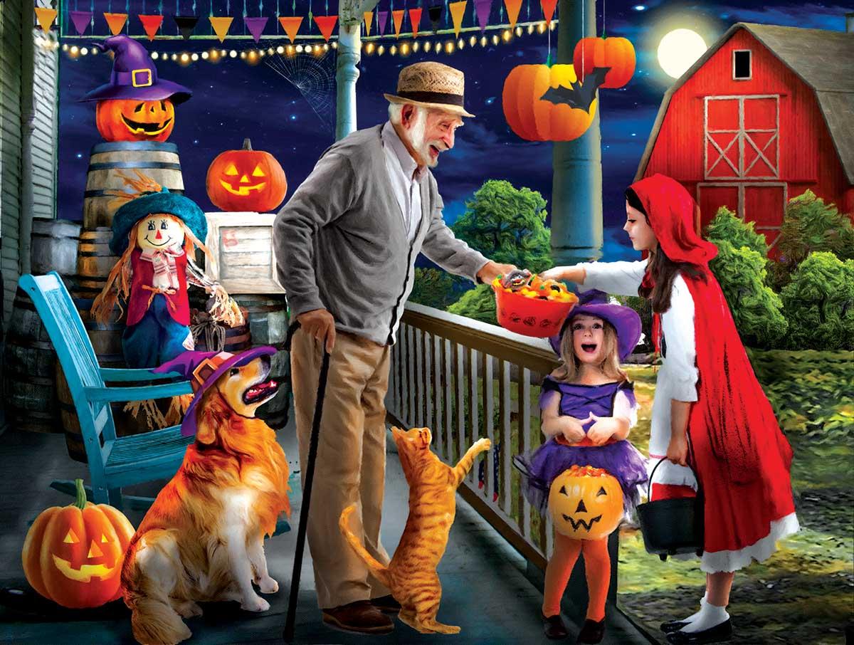 Halloween at Grandpa's Halloween Jigsaw Puzzle