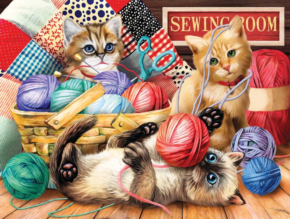 Kitties Fun Time Cats Jigsaw Puzzle