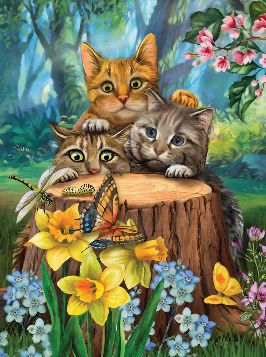 Fraidy Cats Cats Jigsaw Puzzle