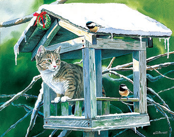 Calling on the Neighbors - Scratch and Dent Cats Jigsaw Puzzle