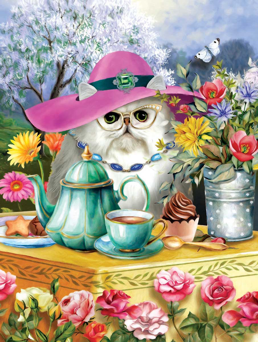 Afternoon Tea Cats Jigsaw Puzzle