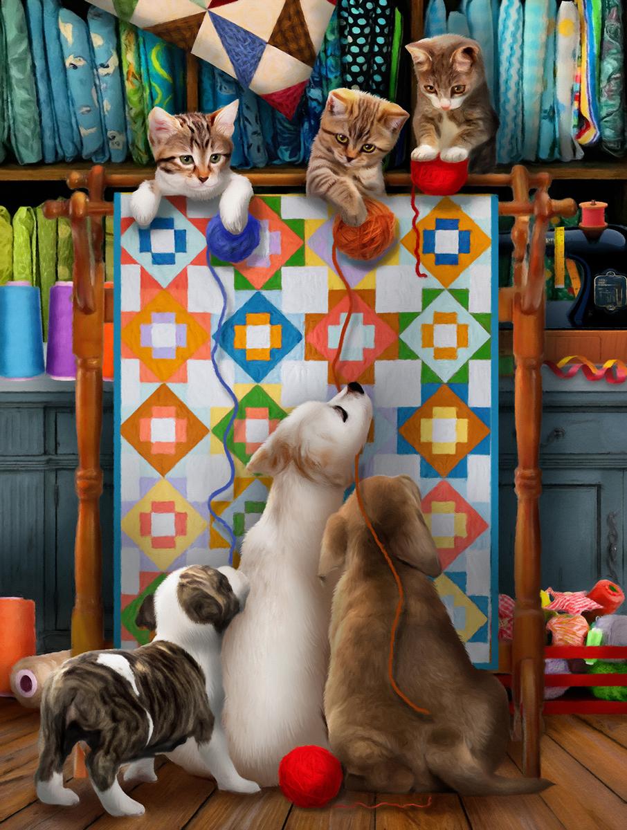Kitty High Jinx Cats Jigsaw Puzzle