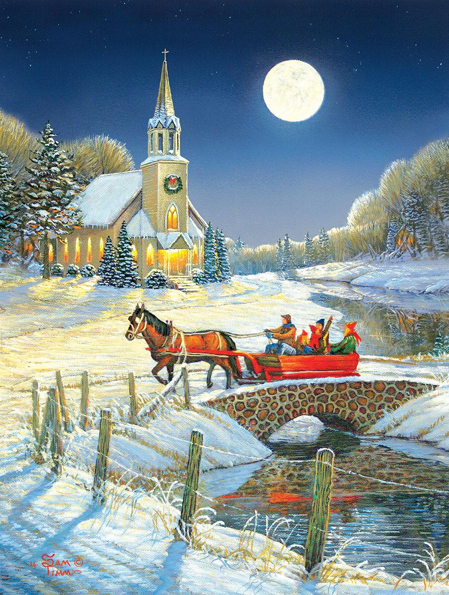 Evening Sleigh - Scratch and Dent Winter Jigsaw Puzzle