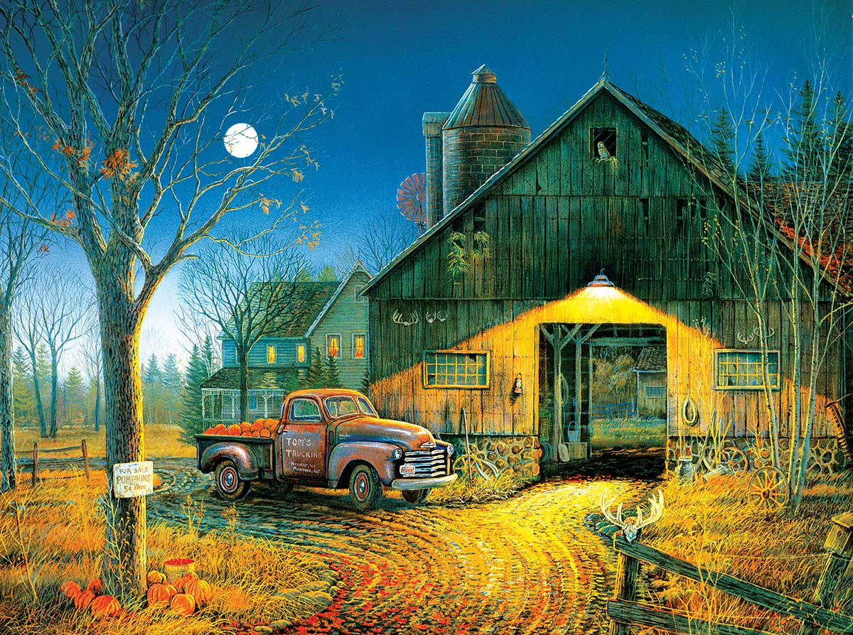 Simple Times Farm Jigsaw Puzzle