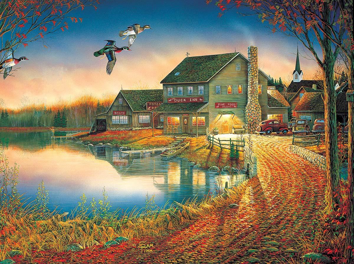 Duck Inn Birds Jigsaw Puzzle