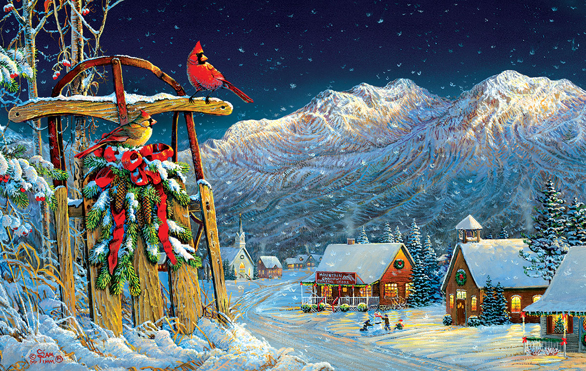 Cardinals Holiday Winter Jigsaw Puzzle