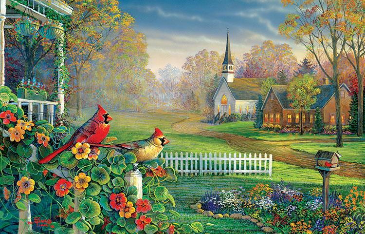 Summertime Memories Birds Jigsaw Puzzle