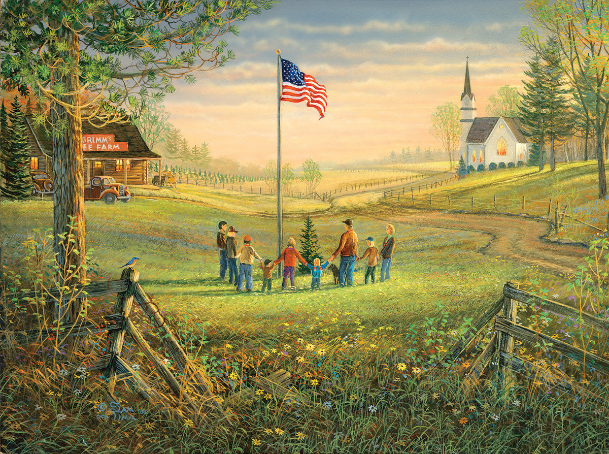 A Time to Remember - Scratch and Dent Countryside Jigsaw Puzzle