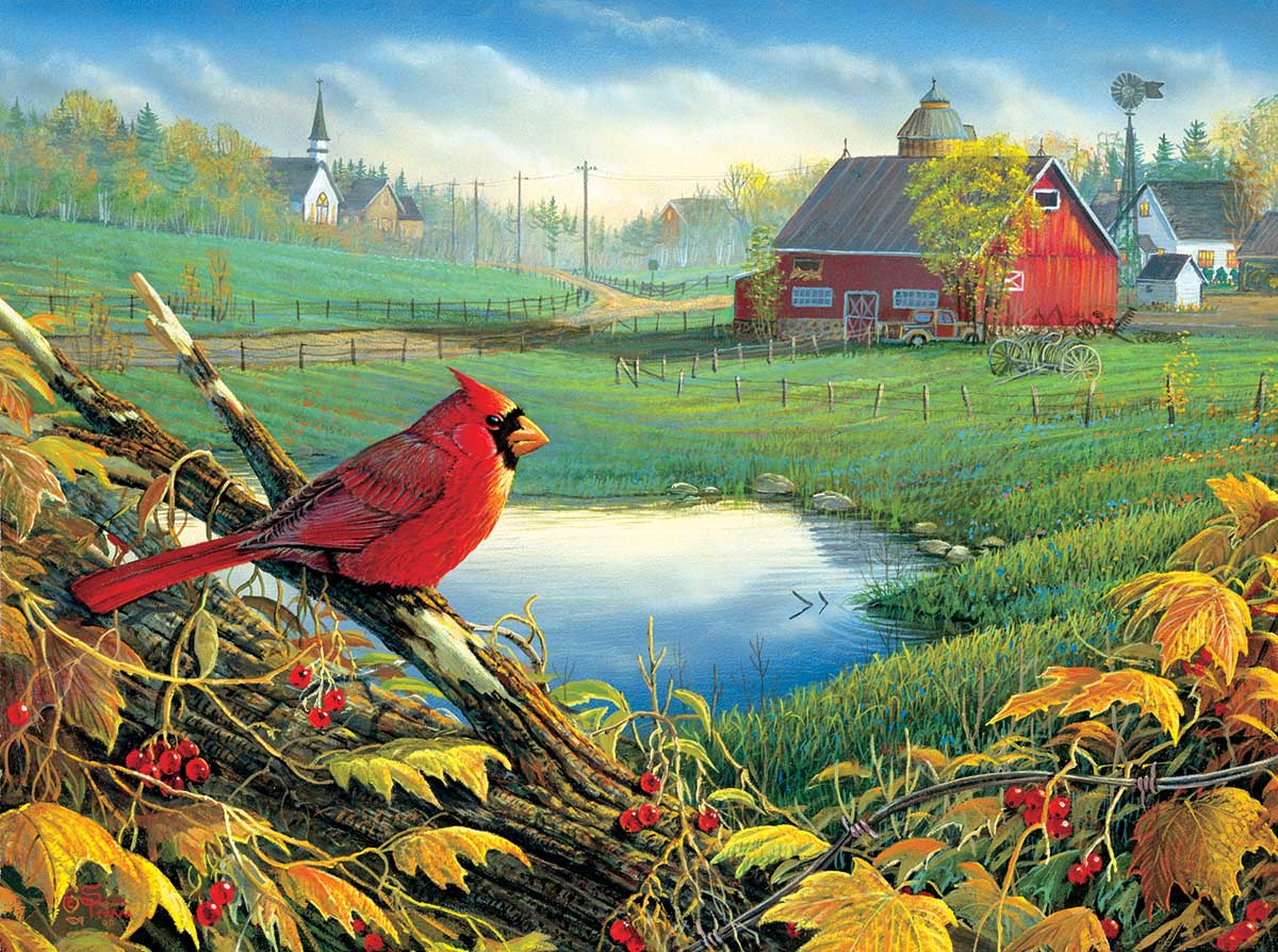 Overview Farm Jigsaw Puzzle