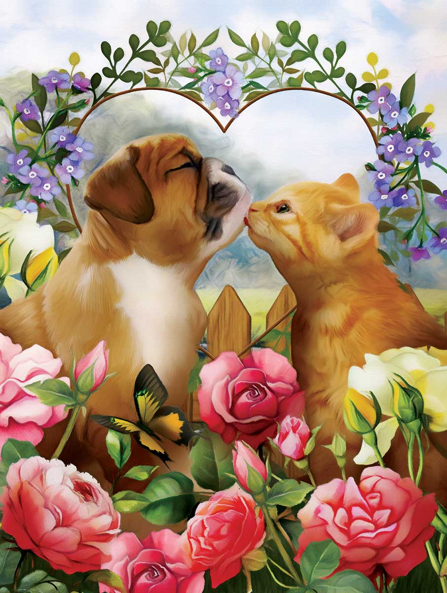 Love Conquers All Cats Jigsaw Puzzle