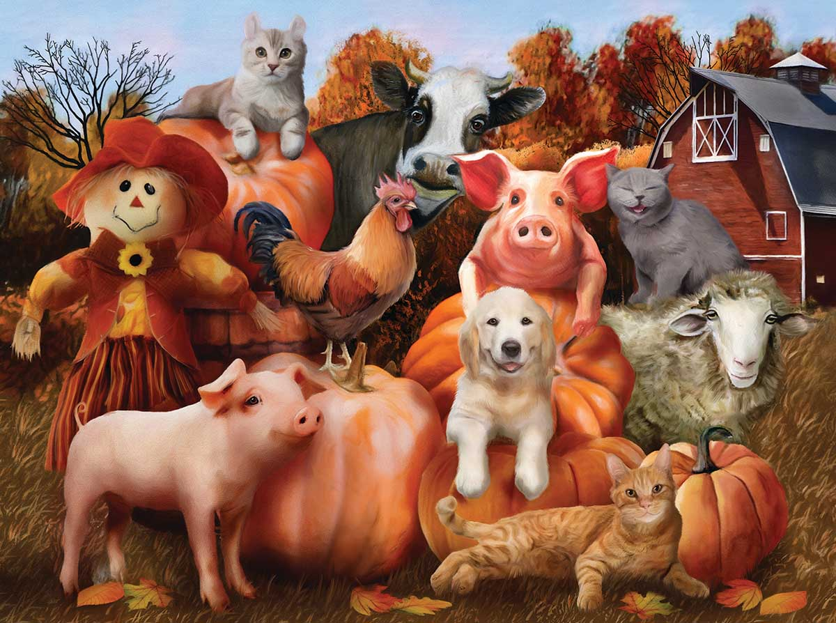 Family Portrait Farm Jigsaw Puzzle