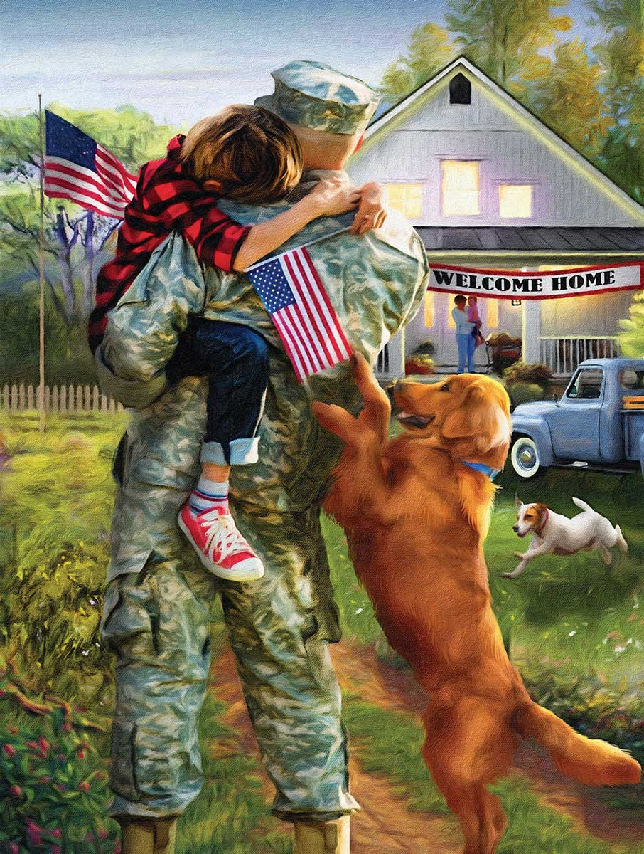 A Warm Welcome Home Dogs Jigsaw Puzzle
