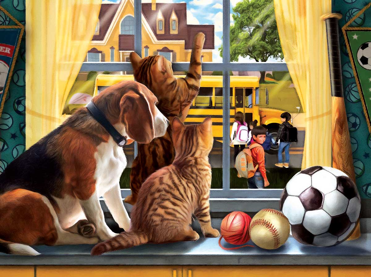 Off to school Cats Jigsaw Puzzle