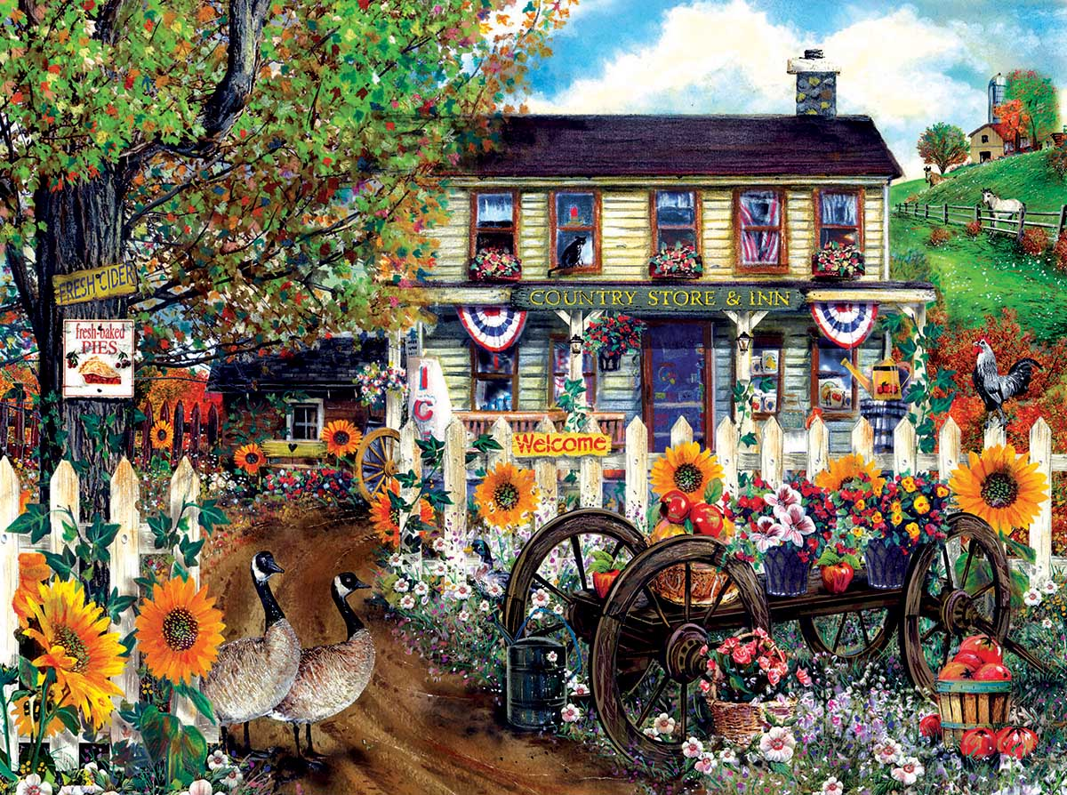 The Old Country Store Countryside Jigsaw Puzzle