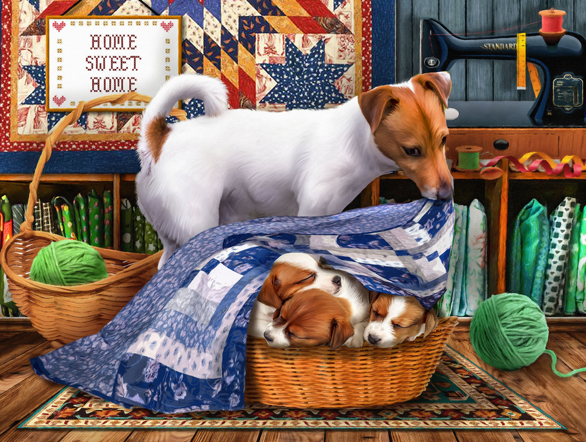 Sweet Dreams My Little Ones Dogs Jigsaw Puzzle