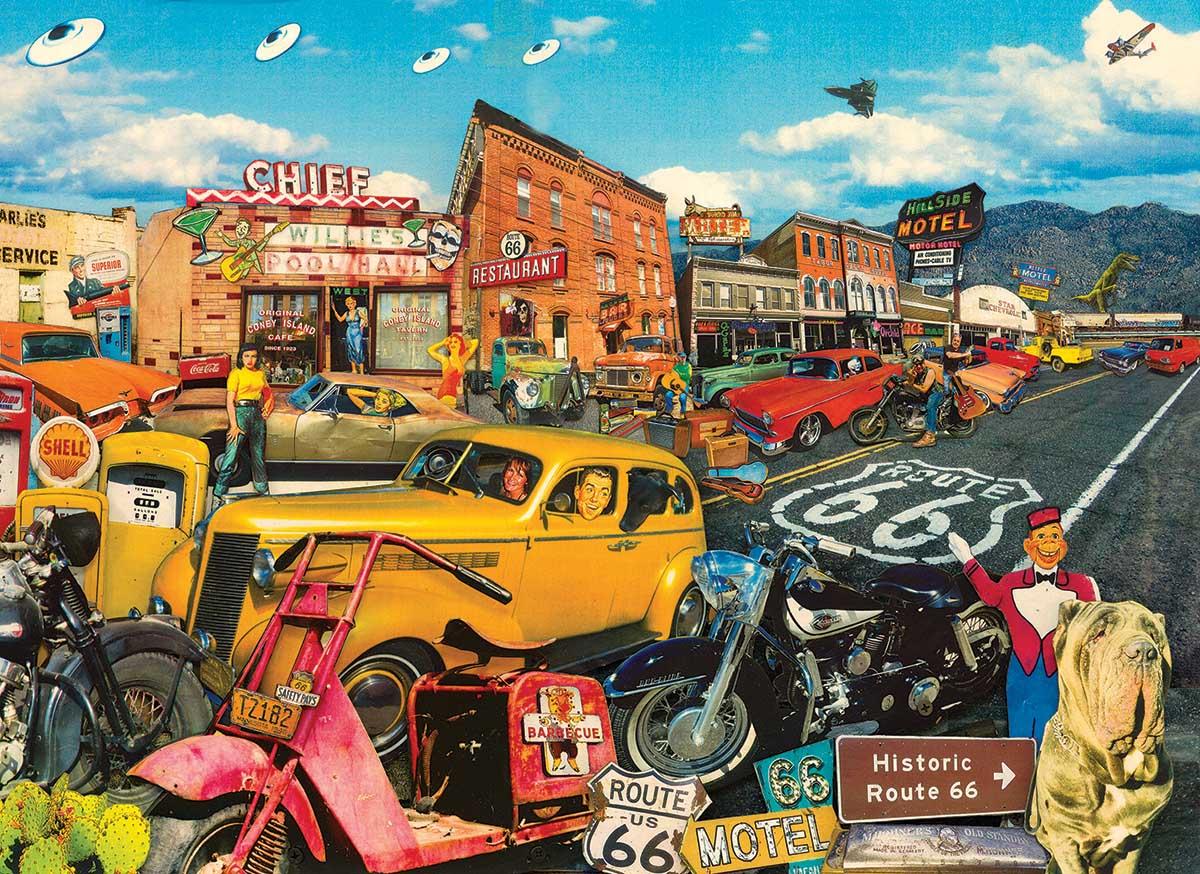 Willie's Pool Hall Street Scene Jigsaw Puzzle