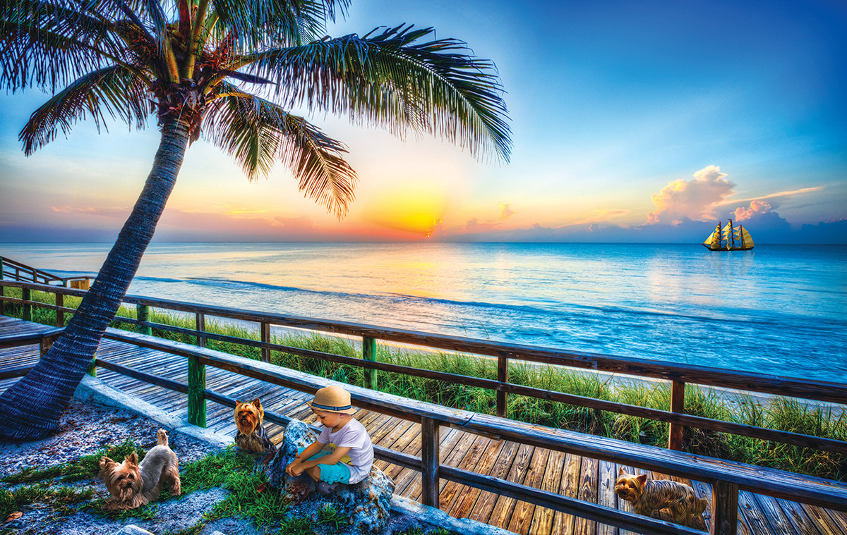 End of Day Play Beach Jigsaw Puzzle