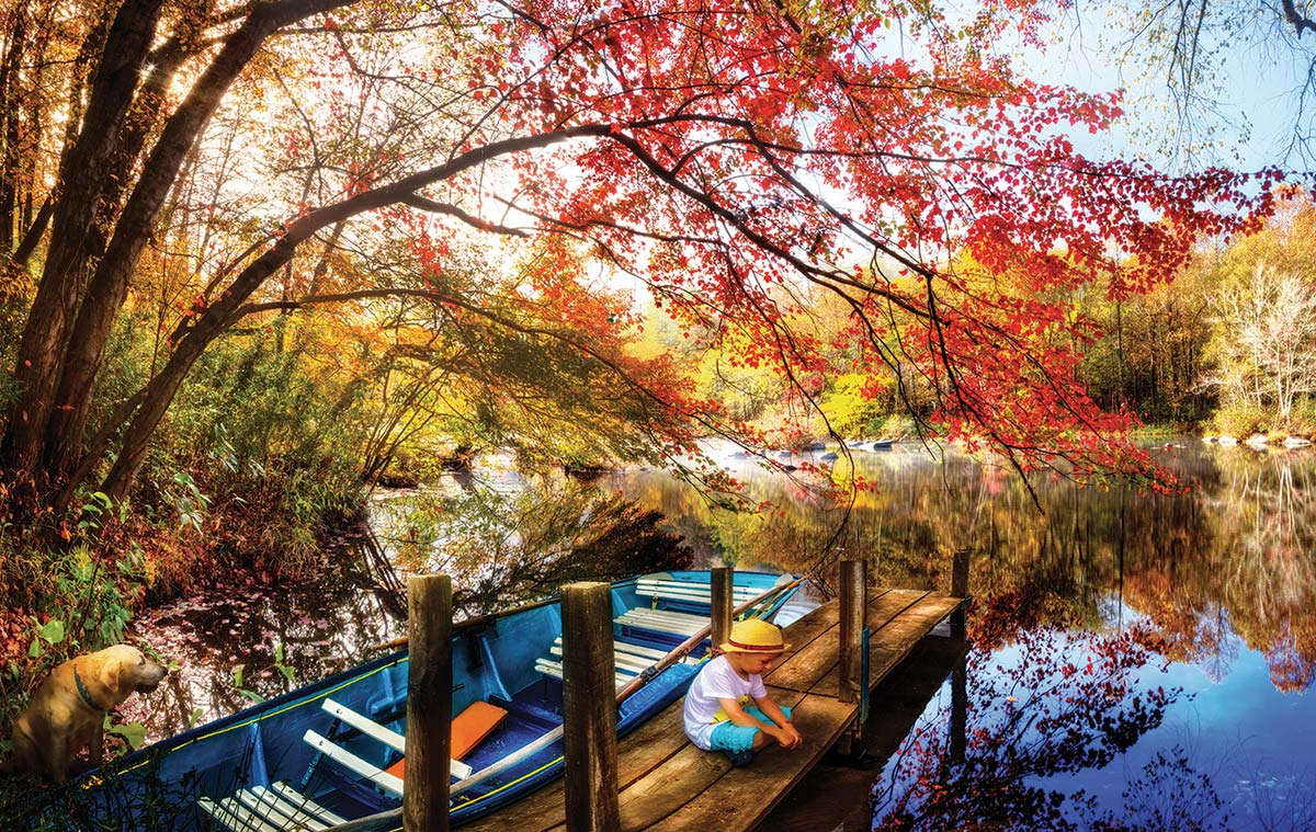 Morning Thoughts Landscape Jigsaw Puzzle
