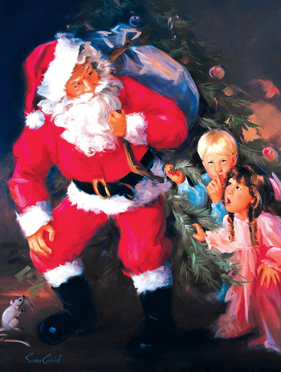 Christmas Watch Santa Jigsaw Puzzle