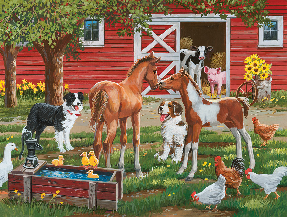 Welcome the new pony Farm Jigsaw Puzzle