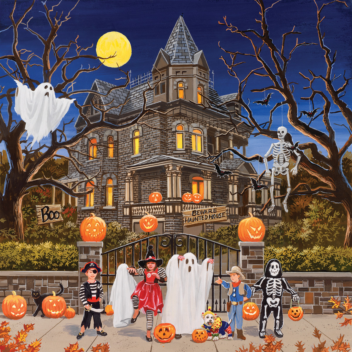 Beware Haunted House - Scratch and Dent Halloween Jigsaw Puzzle